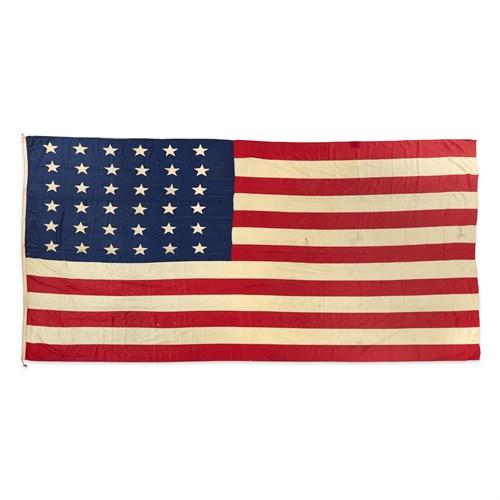 Lot 58 - A 36-Star American Flag commemorating Nevada statehood