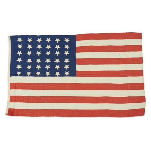 Lot 57 - A 36-Star American Flag commemorating Nevada statehood
