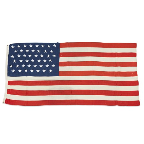 Lot 92 - Two 45-Star American Flags commemorating Utah statehood