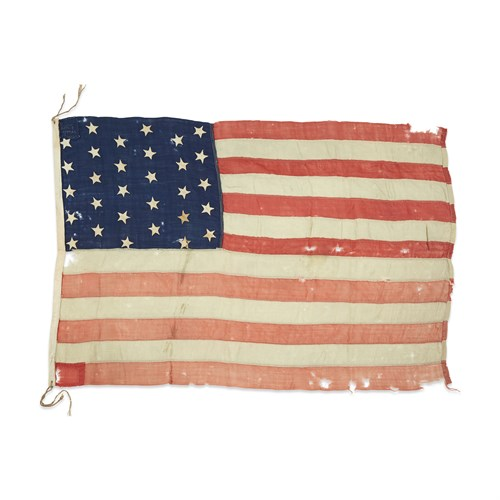 Lot 35 - A 30-Star American Flag commemorating Wisconsin statehood