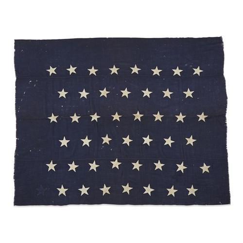 Lot 93 - A 45-Star American Naval Jack commemorating Utah statehood