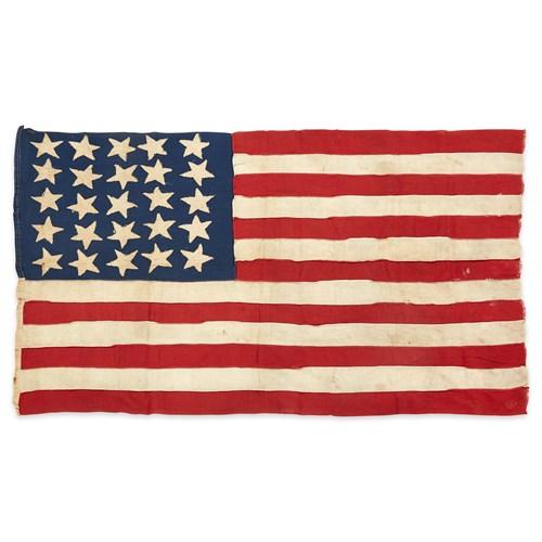 Lot 25 - A 25-Star American Flag commemorating Arkansas statehood