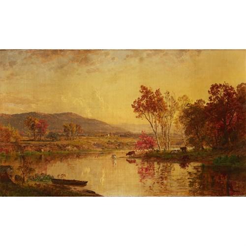 Lot 15 - Jasper Francis Cropsey (American, 1823-1900)