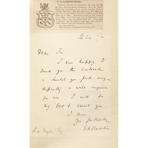 Lot 61 - [Fine Bindings] [Gladstone, William] Morley, John