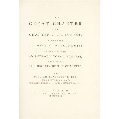 Lot 72 - [Law] [Magna Carta] Blackstone, William