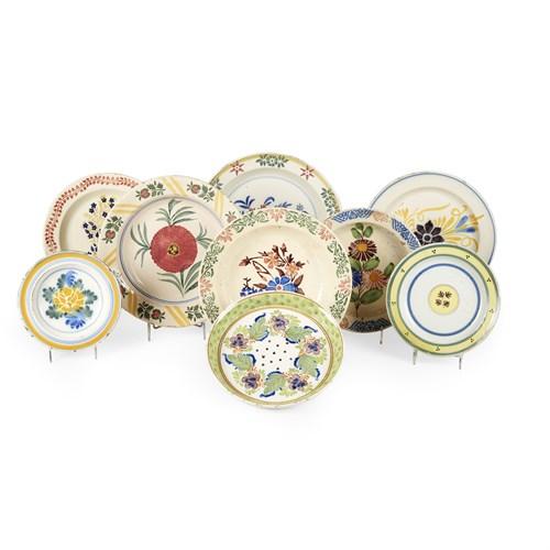 Lot 13 - Nine Portuguese faience plates