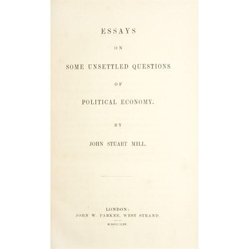 Lot 42 - [Economics] Mill, John Stuart