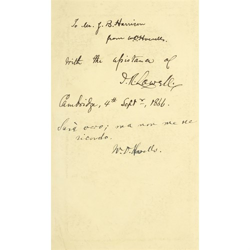 Lot 16 - [Autographs & Manuscripts] Howells, W(illia)m. D(ean).