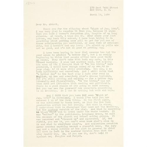 Lot 79 - [Literature] Rand, Ayn