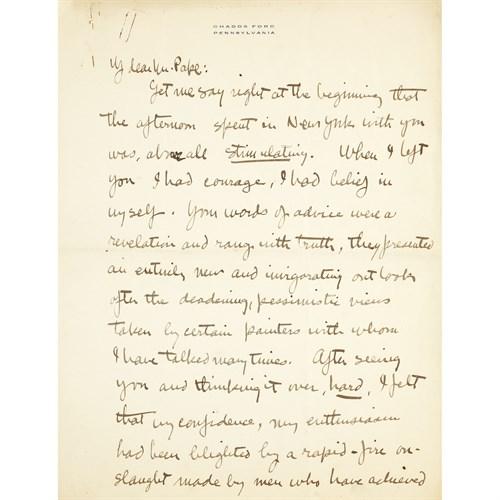 Lot 20 - [Autographs & Manuscripts] Wyeth, N(ewell).C(onvers).
