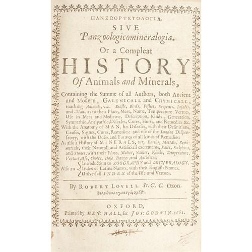 Lot 92 - [Natural History] Lovell, Robert