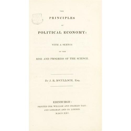 Lot 41 - [Economics] McCulloch, J(ohn).R(amsay).