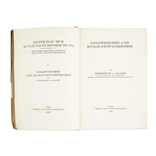 Lot 38 - [Economics] Hayek, Friedrich A.