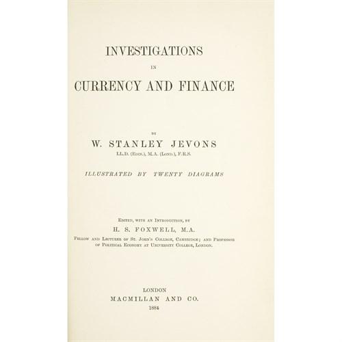 Lot 48 - [Finance] Jevons, W. Stanley