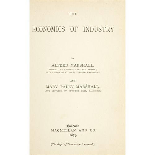 Lot 23 - [Business & Industry] Marshall, Alfred, and Mary Paley Marshall