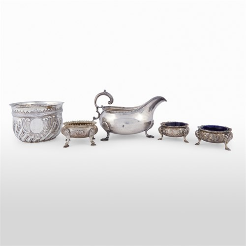 Lot 12 - Group of five silver and plated table items