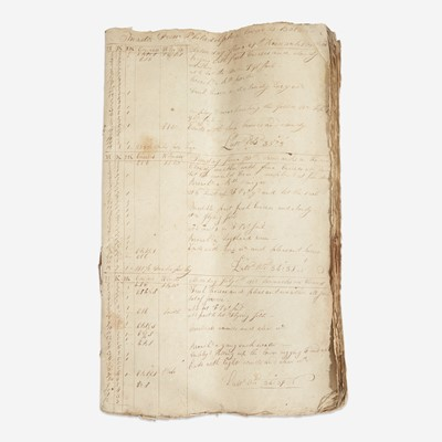 Lot 116 - A merchant ship's logbook for the Brig Lovely Lass from Philadelphia to Batavia