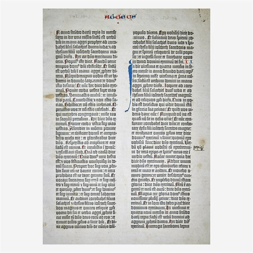 Lot 26 - [Incunabula] Gutenberg, Johann (printer)