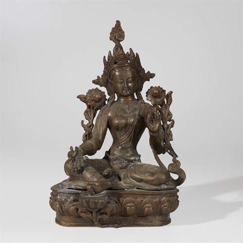 Lot 64 - Seated bronze Indian diety