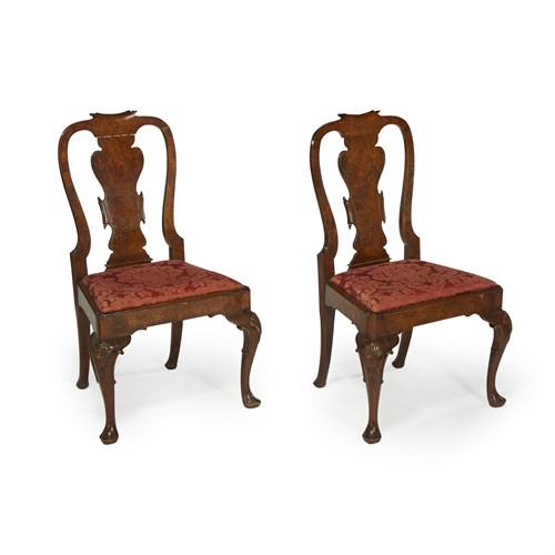 Lot 70 - Pair of Queen Anne/ George I style side chairs