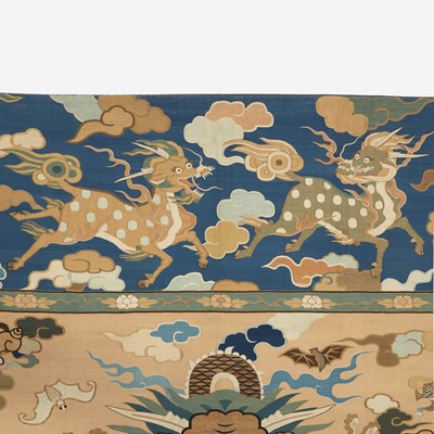 "Lot 82 - A large kesi tapestry ""Dragons"" panel"