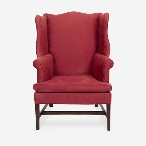 Lot 148 - A Federal upholstered mahogany easy chair