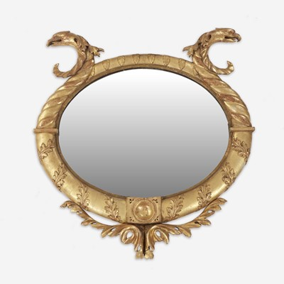 Lot 173 - A Classical giltwood looking glass