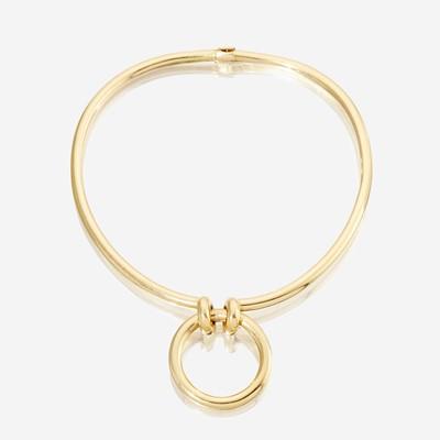 Lot 59 - An eighteen karat gold choker, Hermès
