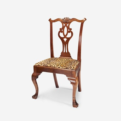 Lot 77 - A Chippendale walnut side chair