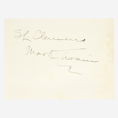 Lot 39 - [Literature] Twain, Mark (Samuel Langhorne Clemens)
