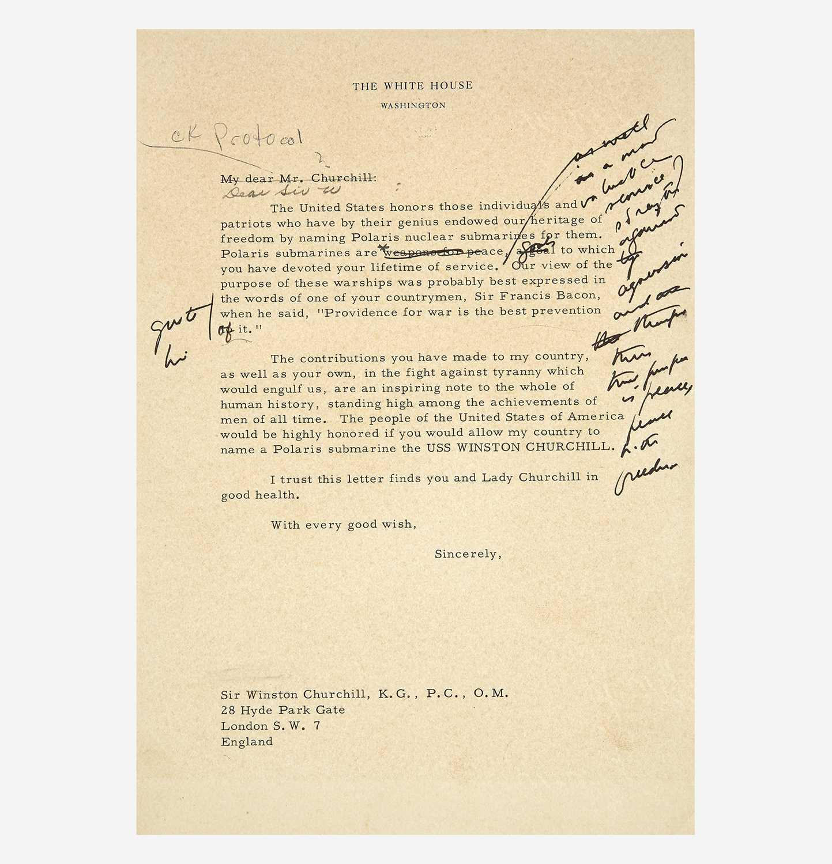 Lot 97 - [Presidential] [Churchill, Winston] Kennedy, John F.