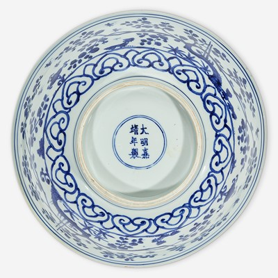 Lot 1 - A Chinese blue and white porcelain large bowl