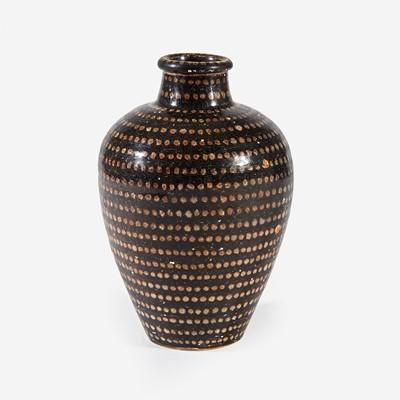 Lot 28 - A Chinese Jizhou spotted ovoid vase