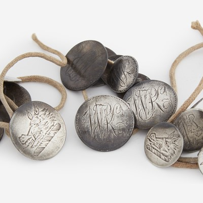 Lot 24 - A collection of shoe buckles and buttons