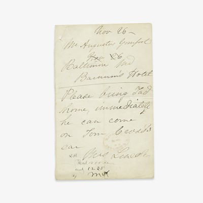 Lot 104 - [Presidential] [First Ladies] Lincoln, Mary Todd