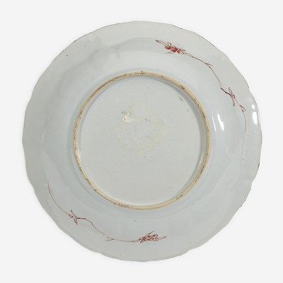"Lot 14 - A Chinese famille verte ""Mu Guyiying"" dish 五彩""穆桂英""瓷盘"