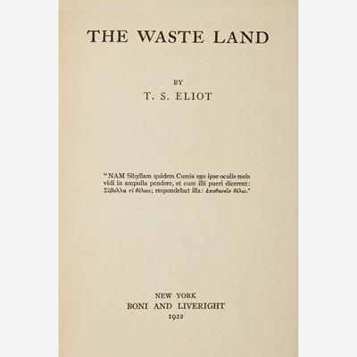 Lot 33 - [Literature] Eliot, T.S.