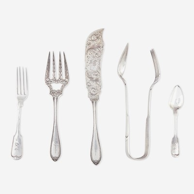 Lot 183 - A group of assorted silver flatware