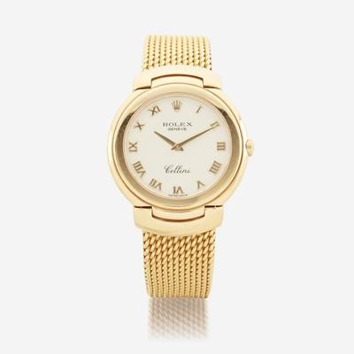 Lot 125 - An eighteen karat gold, bracelet wristwatch, Rolex
