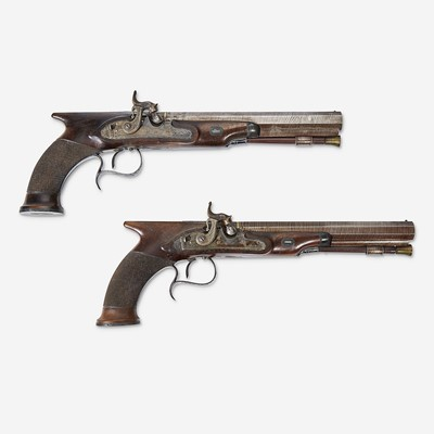 Lot 122 - A cased pair of English gentleman's pistols