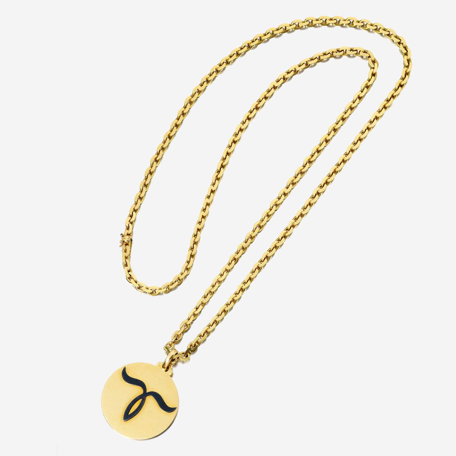 Lot 44 - An eighteen karat gold zodiac pendant necklace, Bulgari