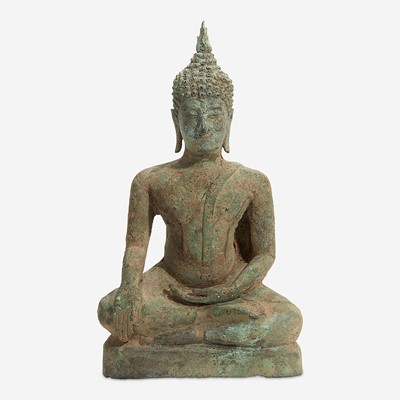 Lot 115 - A Thai bronze seated Buddha