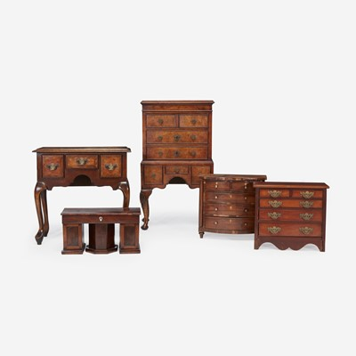 Lot 139 - A group of five miniature furniture items