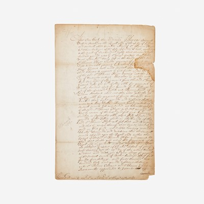 Lot 17 - [Autographs & Manuscripts] [Great Fire of London]