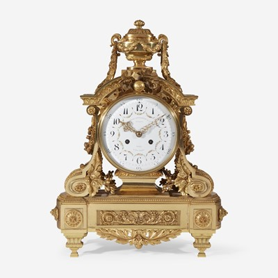 Lot 25 - A Louis XVI Style Gilt-Bronze Mantel Clock
