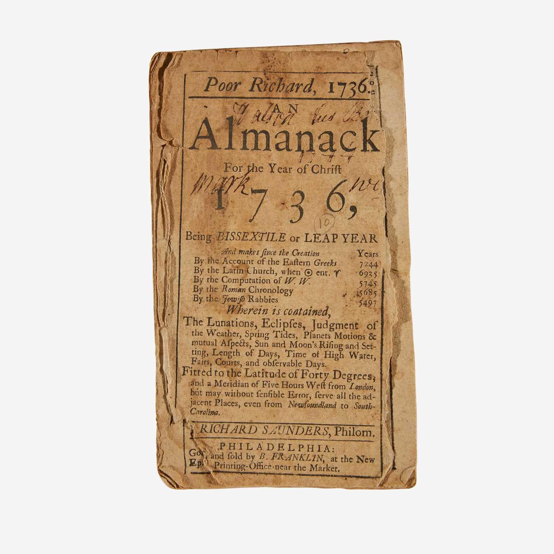 Lot 10 - [Americana] [Franklin, Benjamin] Saunders, Richard