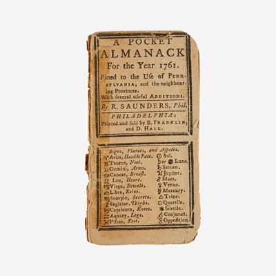 Lot 11 - [Americana] [Franklin, Benjamin] Saunders, R(ichard).