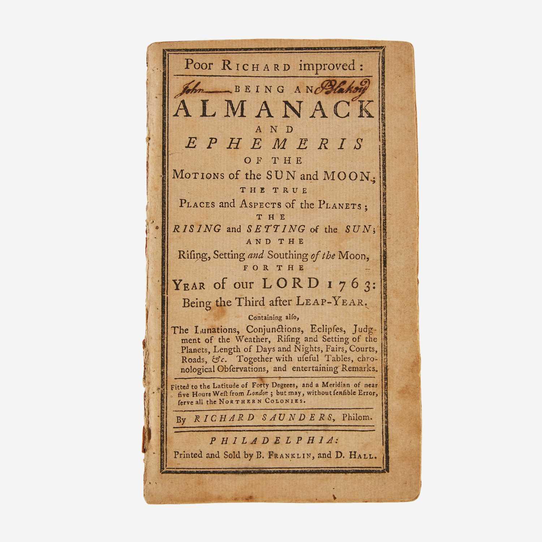 Lot 12 - [Americana] [Franklin, Benjamin] Saunders, Richard