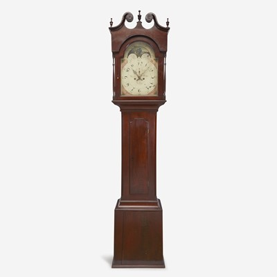 Lot 61 - A Chippendale carved mahogany tall case clock