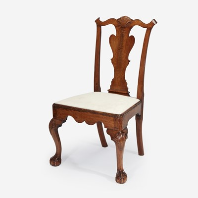 Lot 59 - A Chippendale carved walnut side chair